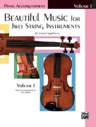 Alfred 00-EL02199 Beautiful Music for Two String Instruments- Book I - Music Book