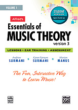 Alfred 00-34626 Essentials of Music Theory- Software- Version 3 CD-ROM Student Version- Volume 1 - Music Book