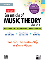 Alfred 00-34628 Essentials of Music Theory- Software- Version 3 CD-ROM Educator Version- Volume 1 - Music Book