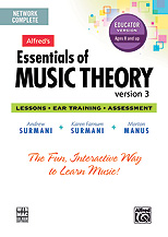 Alfred 00-34631 Essentials of Music Theory- Software- Version 3 Network Version- Complete Volume- for 5 usersu$40 each additional user - Music Book