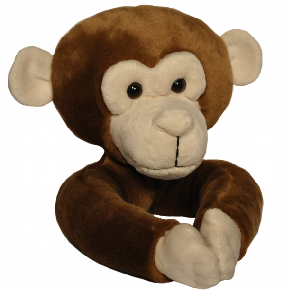 Curtain Critters ALCHMY150909TOY Plush Safari Chocolate Monkey Curtain Tieback T