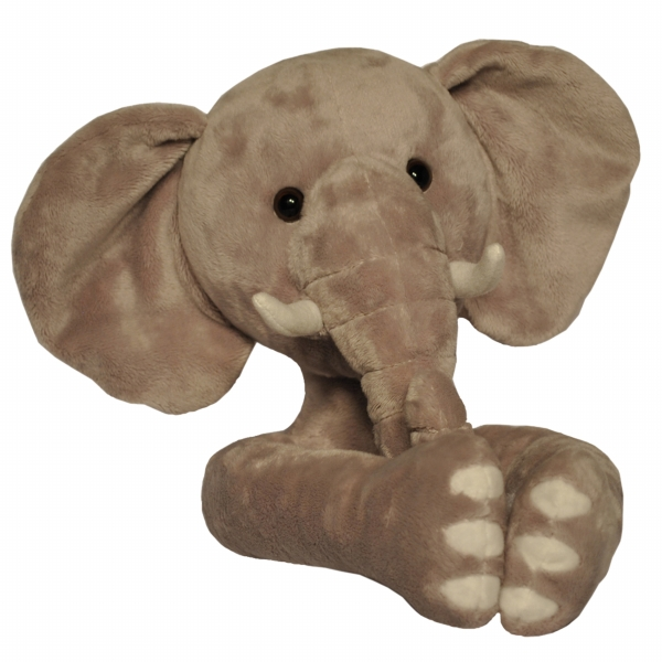 Curtain Critters ALGYEL060809TOY Plush Safari Grey Elephant Curtain Tieback Toy
