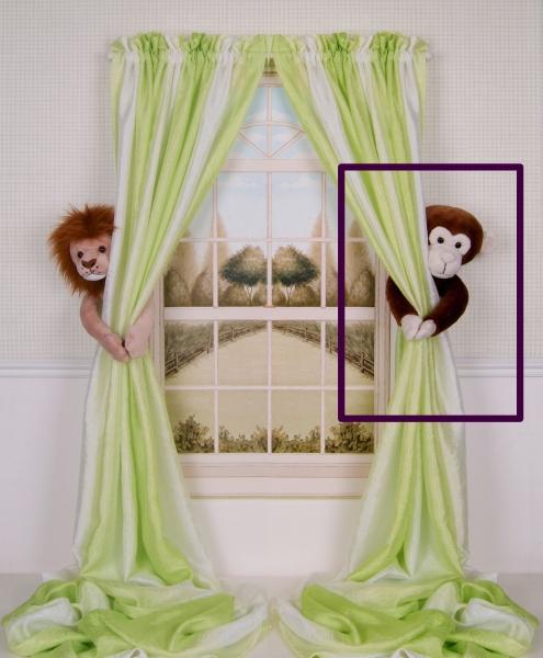 Curtain Critters ALCHMY150909SGL Plush Safari Chocolate Monkey Curtain Tieback Toy