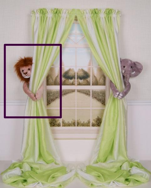 Curtain Critters ALBNLN130909SGL Plush Safari Brown Lion Curtain Tieback Toy