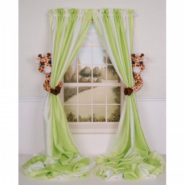 Curtain Critters ALBYGF080909SET Plush Safari Giraffe Curtain Tieback Set- 2 CRCR025
