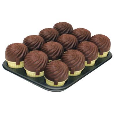 Range Kleen STG32B14M12C 12 Cup Muffin Pan - Chocolate DHSTG32B14M12C