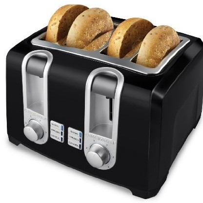 Applica T4569B B&D 4 Slice Toaster Black