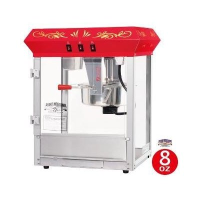 Great Northern 6129 8 ounce Foundation Red Red Eight Ounce Foundation Popcorn Machine Top DTXINT064