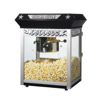 Great Northern 6050 Black Paducah Eight Ounce Bar Style Antique Popcorn Machine DTXINT069