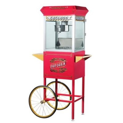 Great Northern 6040 Red Pasedena Eight Ounce Antique Popcorn Machine and Cart DTXINT092