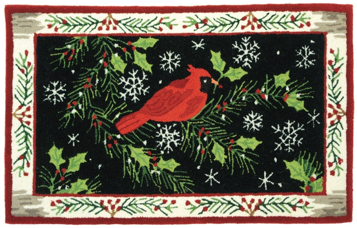 Homefires PYLJB004 Christmas Cardinal Rug