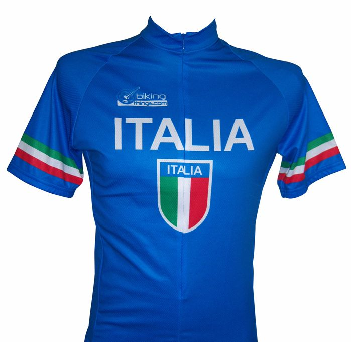 Bikingthings italiajerM Italia Bike Jersey- Italy Cycling Shirt - Size M