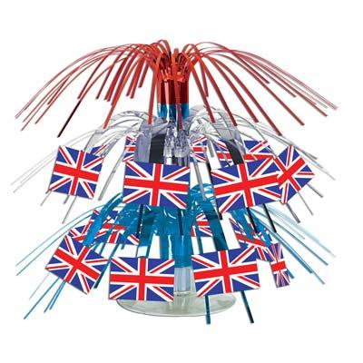 Beistle 57371 British Flag Mini Cascade Centerpiece - Pack of 12