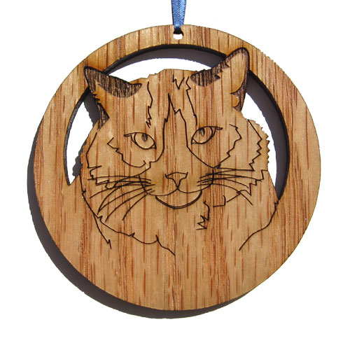 'Camic designs CAT005N6 Laser-Etched Ragdoll Cat Ornaments - Set of 6