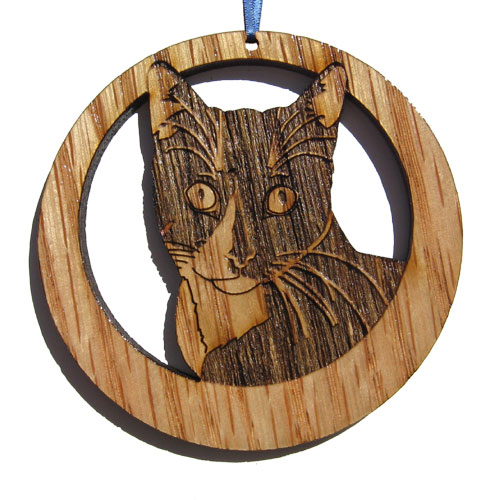 'Camic designs CAT006N6 Laser-Etched Tuxedo Cat Ornaments - Set of 6