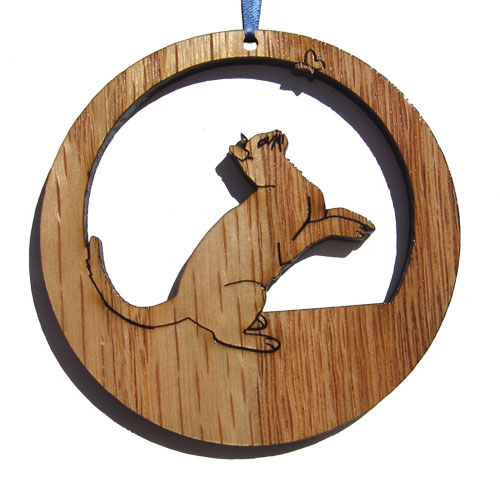 'Camic designs CAT007N6 Laser-Etched Playful Cat Ornaments - Set of 6