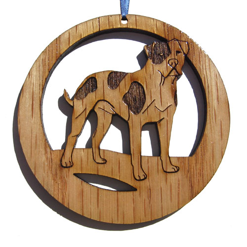 Camic designs DOG031N6 Laser-Etched American Bulldog Ornaments - Set of 6