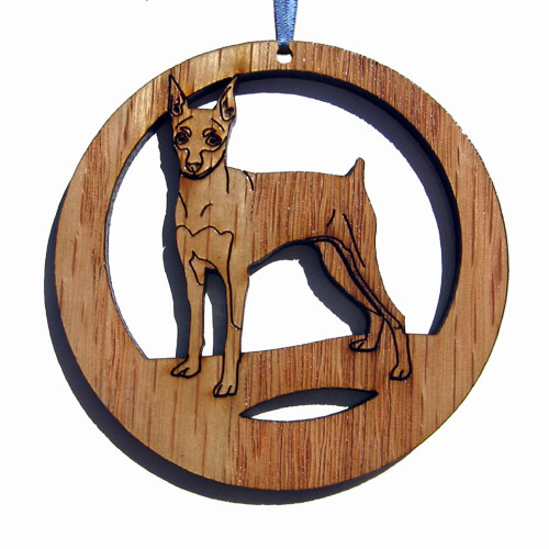 'Camic designs DOG112N6 Laser-Etched Miniature Pinscher - Set of 6