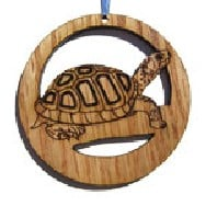 Camic designs REP007N6 Laser-Etched Tortoise Ornaments - Set of 6