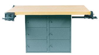 Diversified Woodcraft WB12ABL-0V Four-Station Workbench Blk- 0 Vises