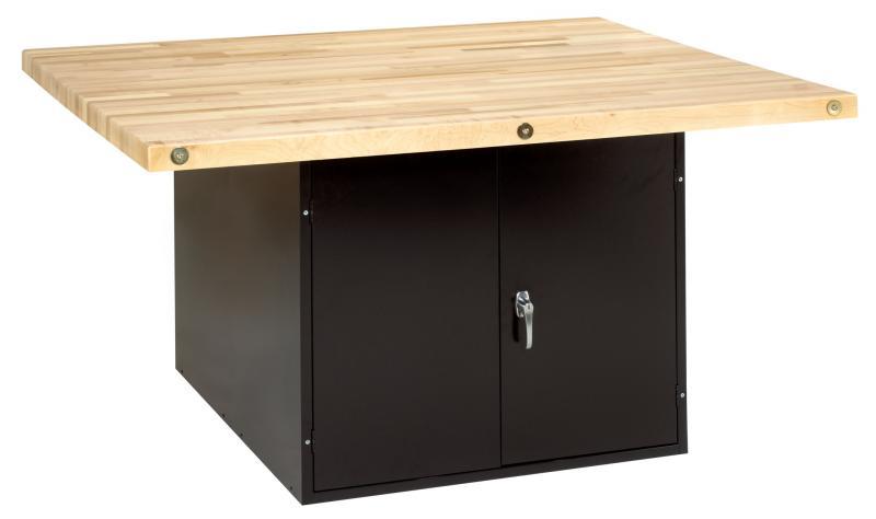Diversified Woodcraft WB2BL-0V 4-Station Workbench Black without Vises
