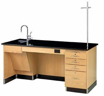Diversified Woodcraft 1216K-L-ADA Desk-Instr-Ada-72X30X34