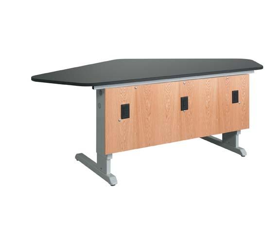 Diversified Woodcraft 2906K Ez-Lift- 4-Student- Workstation