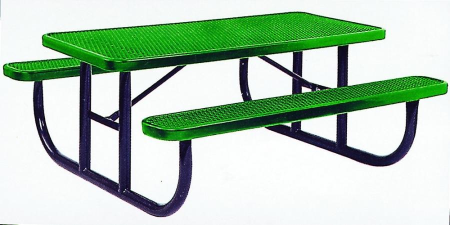Kidstuff Playsystems 9205 Aluminum Picnic Table- 8 ft. Long