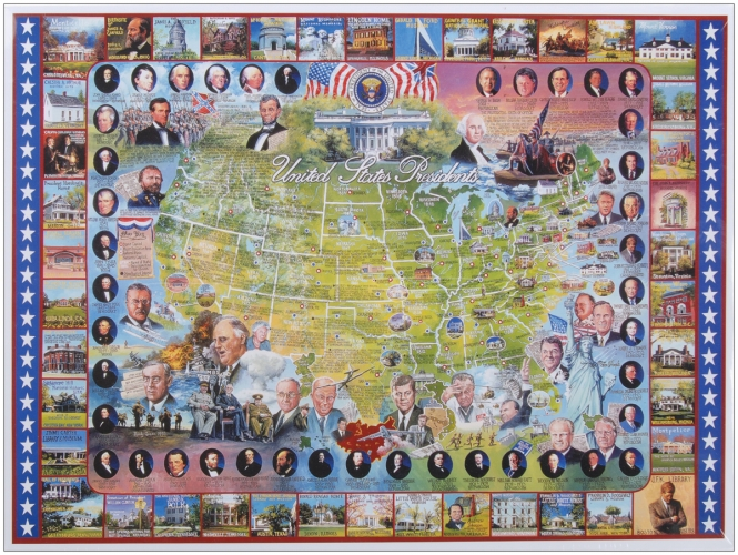 White Mountain Puzzles WM104 American History Collection Jigsaw Puzzle 1000 Pieces 24&quot;X30