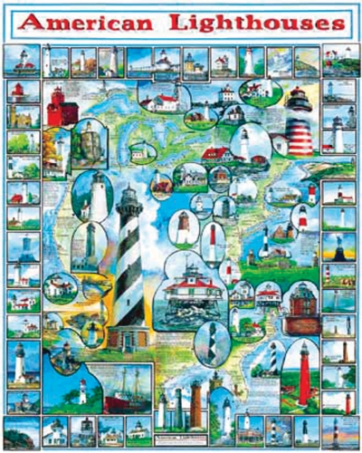 White Mountain Puzzles WM132 By The Sea Collection Jigsaw Puzzle 1000 Pieces 24&quot;X30