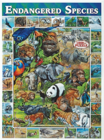 White Mountain Puzzles WM200 On The Wild Side Collection Jigsaw Puzzle 1000 Pieces 24&quot;X30