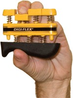Fabrication Enterprises FAB244YEL Cando Digi-Flex Finger Exerciser