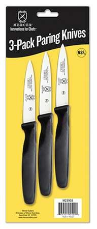 Mercer Tool M23903 3-Pack Paring Knives- Skin Packaging