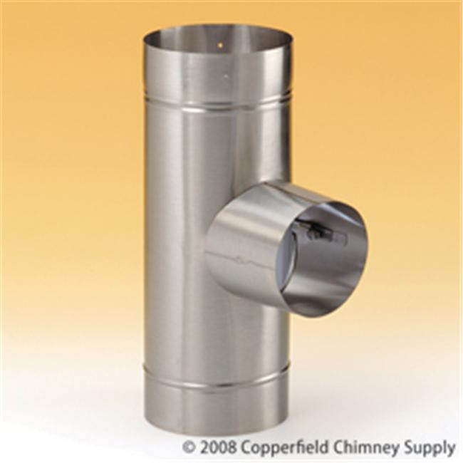 Homesaver 21877 8 Inch  Heat-fab Tee W/6 Inch  Take Off  304-alloy