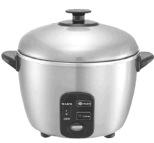 6-cups Stainless Steel Rice Cooker / Steamer