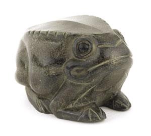 Achla FRG-01 Cast Aluminum Frog Statue - Natural Grey
