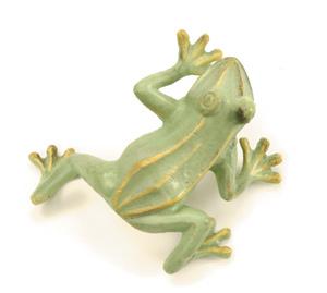 Achla FRG-03G Cast Aluminum Jumping Frog - Green