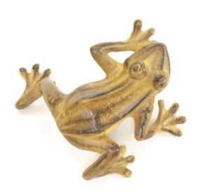 Achla FRG-03T Cast Aluminum Jumping Frog - Tawny