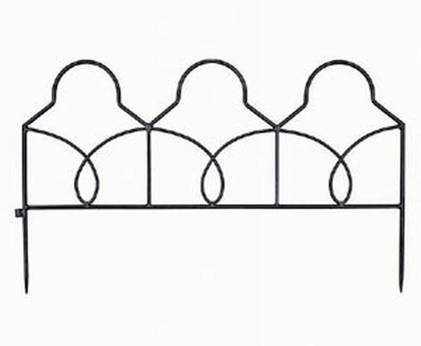 Achla DFL-04 Lattice Decorative Garden Edging and Fencing - Black Powdercoat