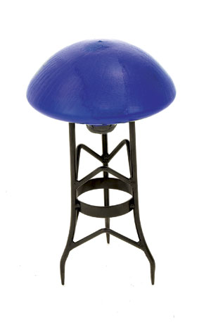 Achla TS-BL-C Garden Toad Stool - Blue Crackle