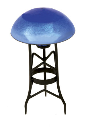 Achla TS-BLL-C Garden Toad Stool - Blue Lapis Crackle