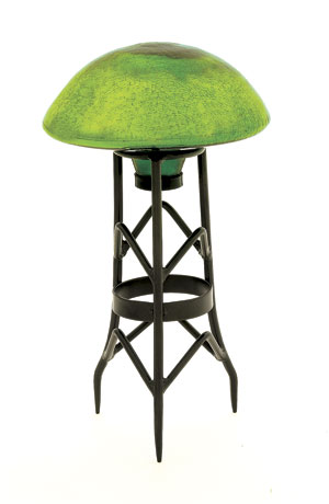 Achla TS-FG-C Garden Toad Stool - Fern Green Crackle