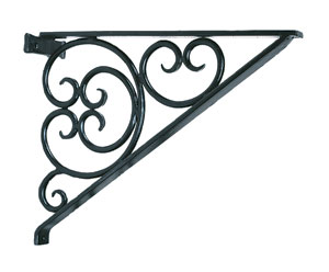 Image of Achla B-14 Cees Mantel Bracket Garden Hook - Black Powdercoat