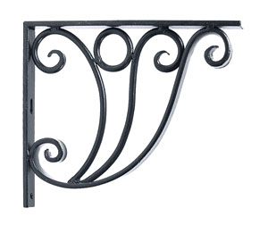 Achla B-20 Ionic Shelf Bracket Garden Hook - Black Powdercoat