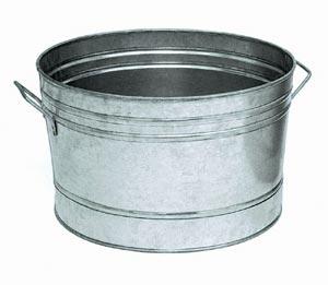 Achla C-50 Galvanized Steel Tub Round Outdoor Cooler