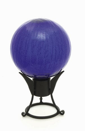 Achla G10-BL-C 10 in. Gazing Globe in Blue with Crackle