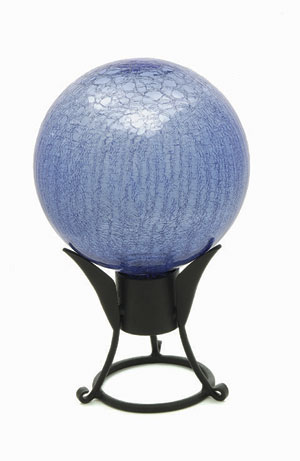 Achla G10-BLL-C 10 in. Gazing Globe in Blue Lapis with Crackle