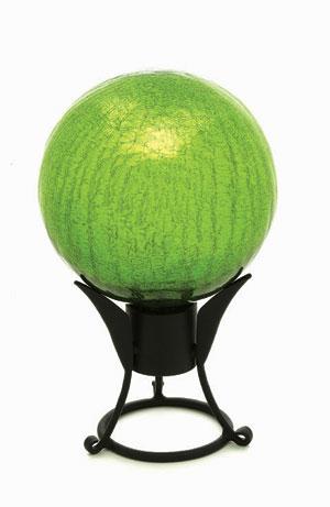 Achla G10-FG-C 10 in. Gazing Globe in Fern Green with Crackle