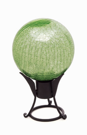 Achla G10-LG-C 10 in. Gazing Globe in Light Green with Crackle