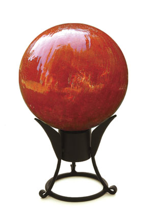 Achla G10-M-C 10 in. Gazing Globe in Mandarin with Crackle